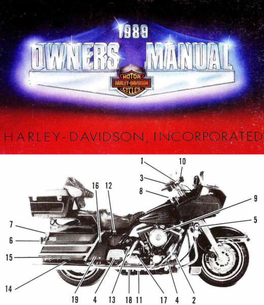 1989 Harley-davidson Tutti I Modelli Manuale Proprietari