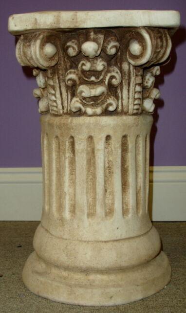 Round Fluted Greek Roman Column Art Table Top Pedestal Riser Sculpture 33008