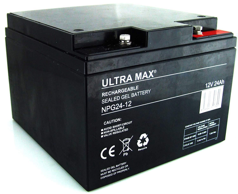 ULTRAMAX NPG 24Ah-12V AGM/GEL GOLF TROLLEY BATTERY (27 Holes) POWAKADDY CARTS