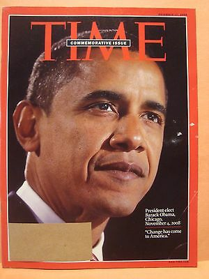 TIME MAGAZINE NOVEMBER 17 2008 COMMEMORATIVE ISSUE BARRACK OBAMA 11 17 2008