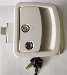 White Leonardo New Style Rv Camper Trailer Entry Door Lock