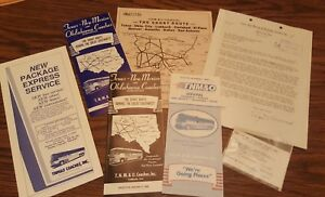 TNM-amp-O-Coaches-Greyhound-Bus-schedules-brochures-Letter-from-co-president-1975
