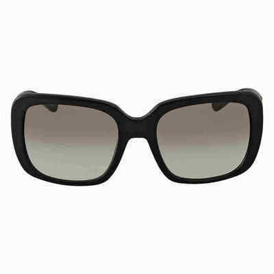 Coach Grey Gradient Square Ladies Sunglasses HC8237 500211 57 HC8237 500211 57