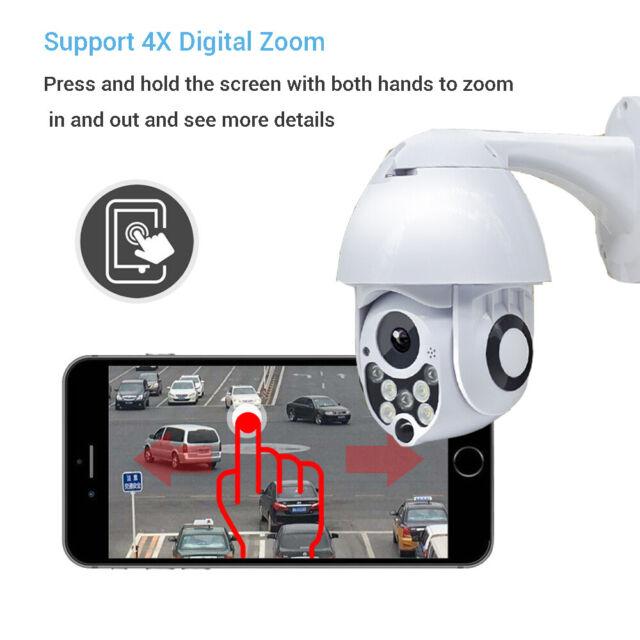 1080P WiFi 320 ° PTZ Dome Camera Wireless IP Security Night Vision 4X Zoom