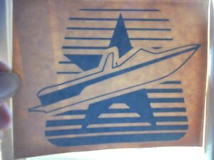"MASTERCRAFT BOAT DECAL VINYL STICKER BLACK OR DARK NAVY BLUE 6"" X 5"""
