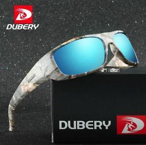 UK DUBERY Polarized Sunglasses Men Square Cycling Sport Driving Fishing UV400
