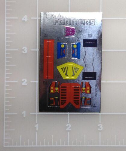 G1 Bombshell Sticker Decal Sheet