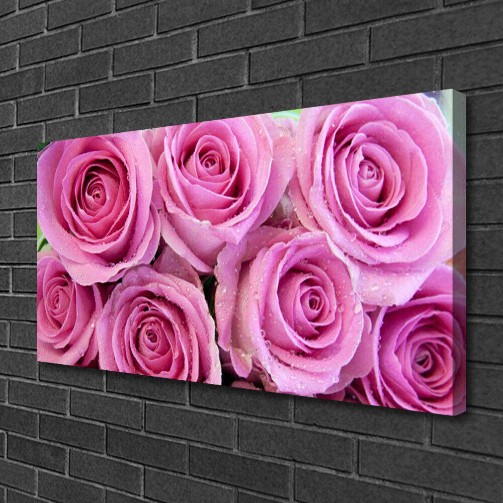 Canvas print Wall art on 100x50 Image Picture Picture Picture Rosas Floral 85087d