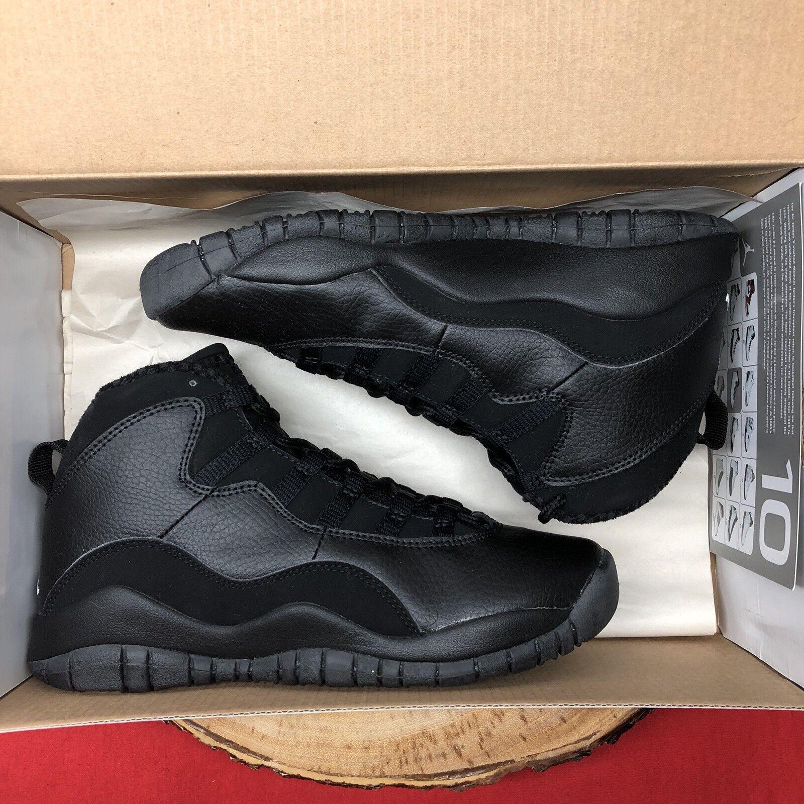 Nike air jordan retro - x größe - schwarz cat 310806 010 größe x 5y stealth - keks - xi 719344