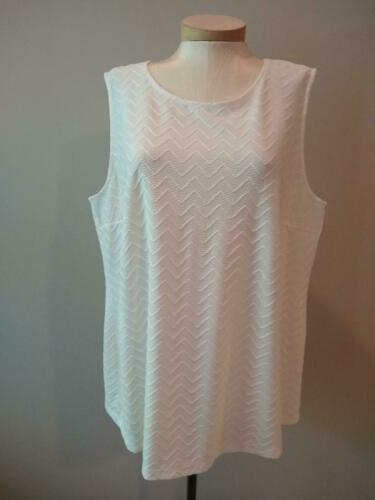 JL JULES /& LEOPOLD WHITE TEXTURED SLEEVELESS DRESSY TOP sizes 2X 3X NEW $65
