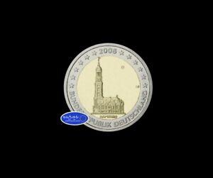 Pièce 2 euros commémorative Allemagne 2008 - Région de Hambourg