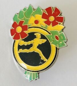 Interflora-Flower-Bunch-Delivery-Advertising-Pin-Badge-Rare-Vintage-J7