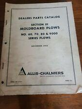 Allis Chalmers 6070809000 Series Plows Dealer Parts Catalogmanual D5