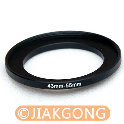 43mm to 55mm Male-Female Stepping Step Up Filter Ring Adapter 43-55 43mm-55mm UK