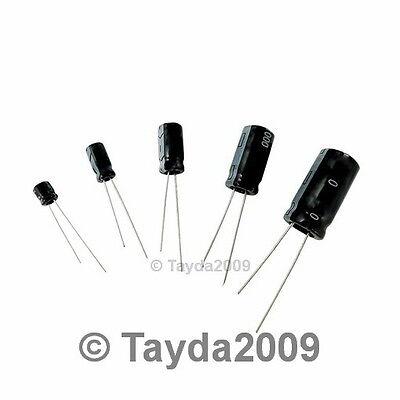 25 x 10uF 25V 105C Radial Electrolytic Capacitor 5x11mm USA Seller