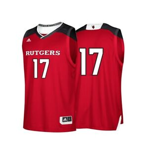 Rutgers Scarlet Knights NCAA Adidas #17 Red Replica Basketball Jersey