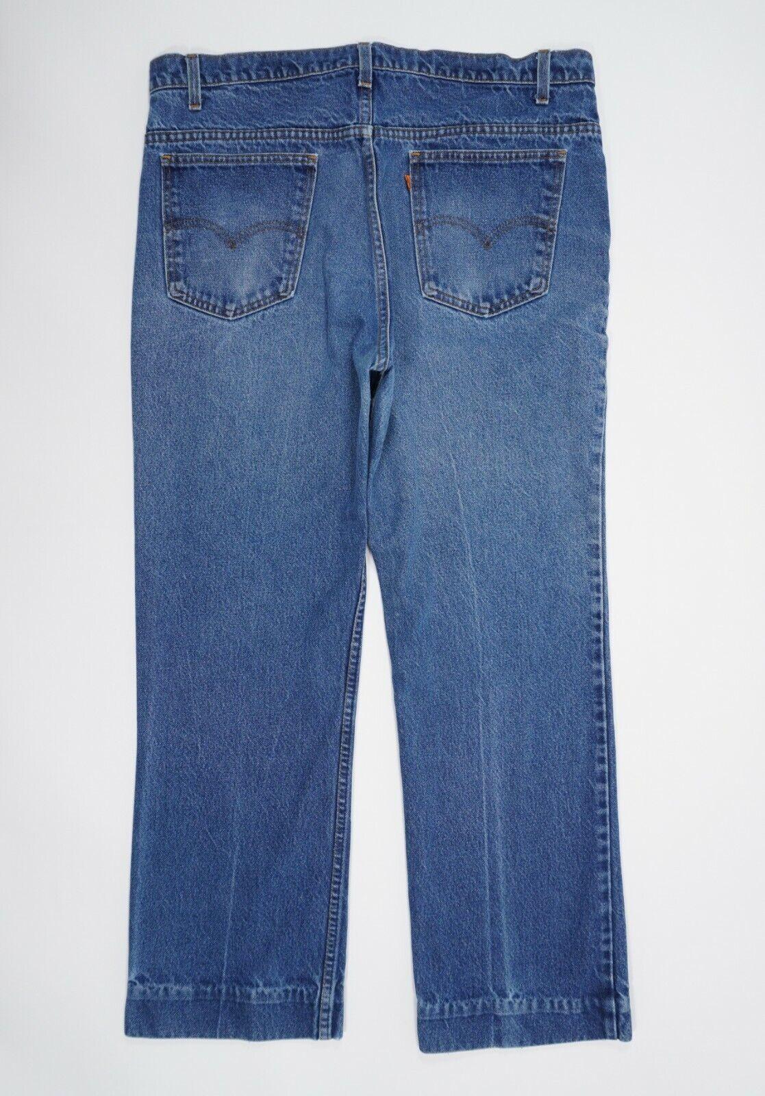 Vintage 90s Levis 517 Mens 36X30 Blue Faded Distr… - image 3