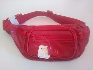 Genuine-Roma-Leather-Red-Belt-Bag-Fannie-Pack-Holder-Organizer-3078