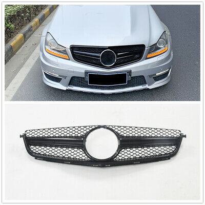 Front Grille Grill For 2012-2014 M-Benz C63 AMG Style Black DN