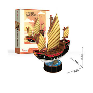 Energisch Cubic Fun Puzzles & Geduldspiele 3d Puzzle Chinese Sailboat Dschunke China Modellbausätze