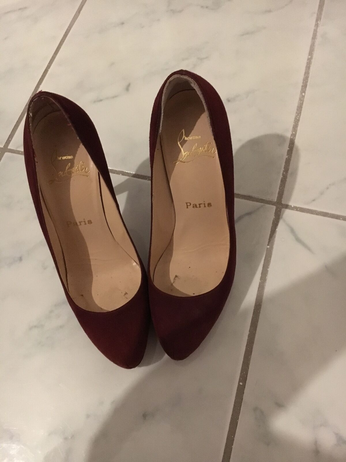 CHRISTIAN LOUBOUTIN Pumps Gr. D 37 Blau Damen Schuhe High Heels Stilettos