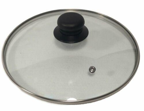 Topfdeckel Glasdeckel mit Edelstahlrand Sichtdeckel mit Pfeife bruchfest NEU