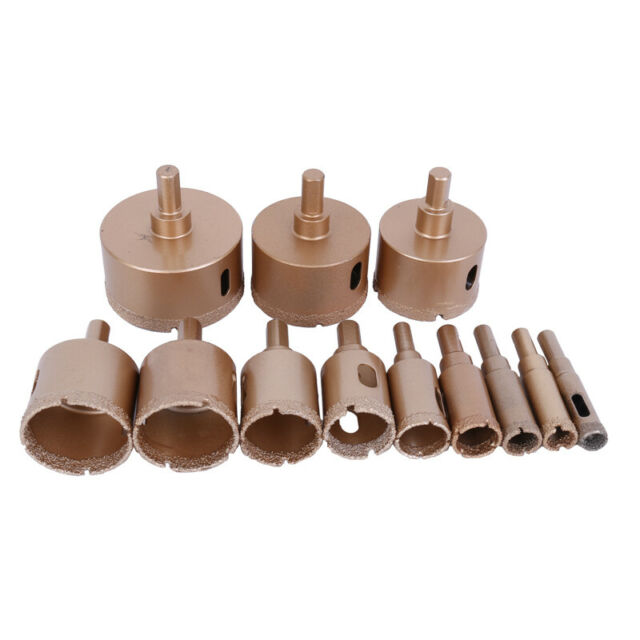 4-30mm Diamond Coated Hole Saw Drill Bit for Glass Tile Ceramic Marble Cutting B