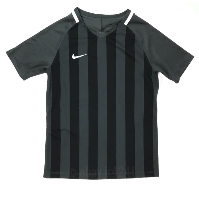 New Nike SS Striped Division II World Cup Soccer Jersey Youth Unisex M Black 115730ff3