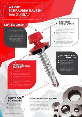 Fürs Dach Sanft Trapezblechschrauben 4,8 X 70 Ral 7016 Epdm Dn14 100 Stück Mit Magnet Bit Heimwerker