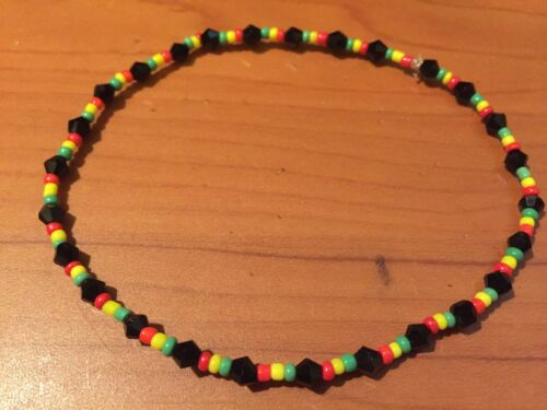 Rasta Reggae Bob Marley Nylon Cordon Seed Bead Jamaican Bracelet Bracelet C34