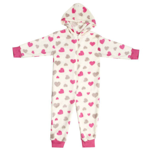 Girls Supersoft Hooded ZipUp Fleece Hearts,Leopard,Fairisle Onesee Onezee  2-13
