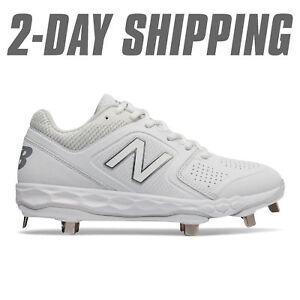 29f86fc8c1d New Balance Women s Softball SMVELOV1 Metal Cleats White SMVELOW1  2 ...