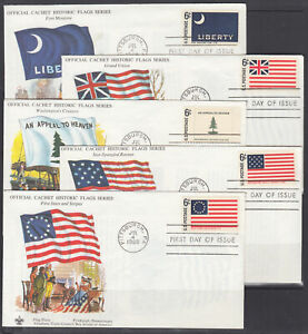 US-Planty-1345-1354-1-FDC-1968-Historical-Flags-Boy-Scouts-FIRST-CACHETS