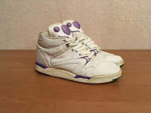 Embutido Redondo Anoi  Vintage OG Reebok Pump 1980s Aerobics Hexalite White Leather 39 Made in  Korea | eBay