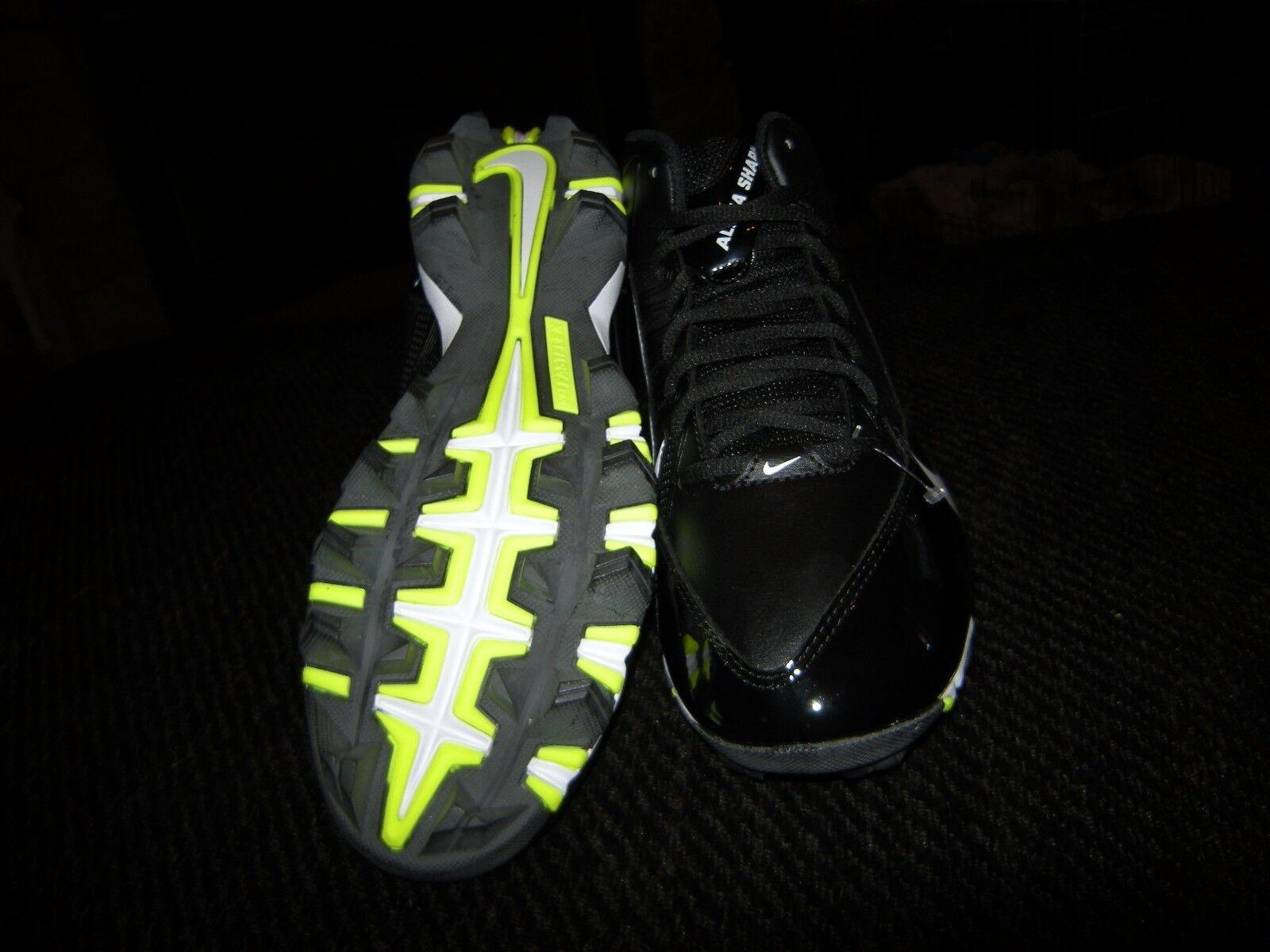 online store c7fc2 727dd ... Brand New Hombre Negro Negro Negro   Amarillo Nike Alpha Pro 3   4 d  Football