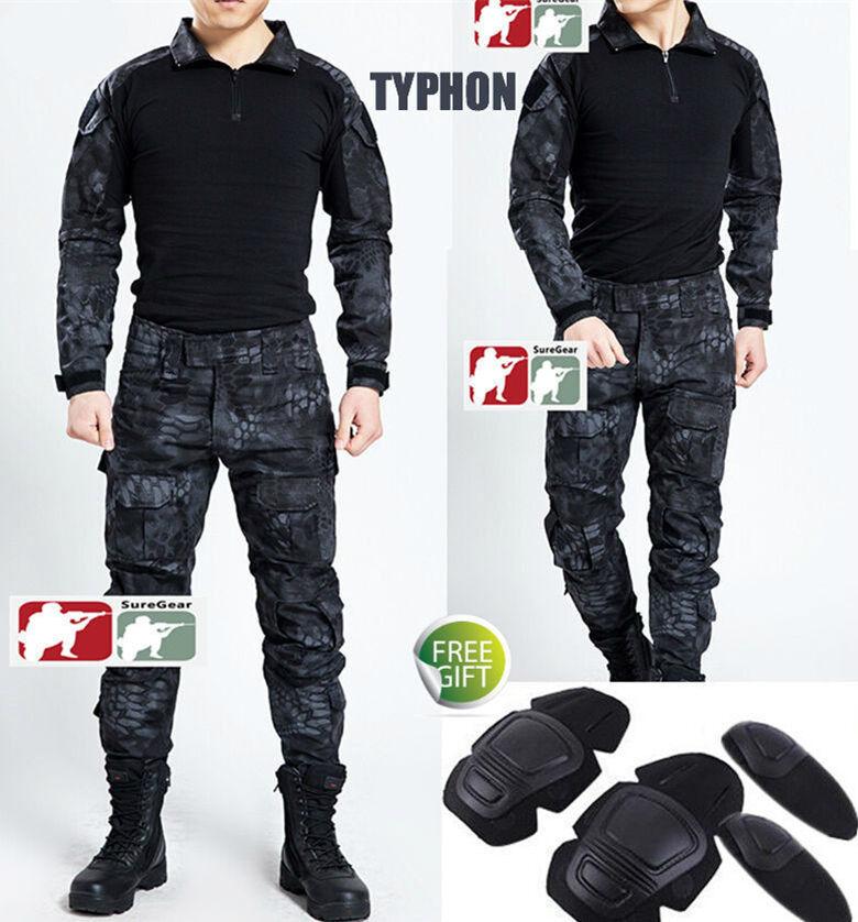 TYPHON Gen3 G3 Combat Suit Shirt PantsTactical Airsoft Uniform OPS SWATKryptek