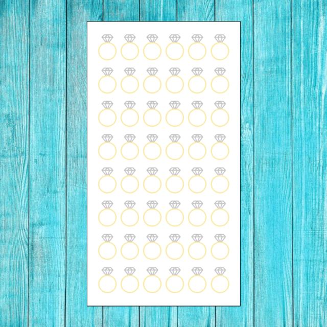 Erin Condren Wedding Planner.48 Engagement Ring Wedding Planning Stickers For Erin Condren Planner Calendar