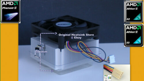 New Thermal Paste Athlon II X4 CPU Cooler Fan for X4 600 Series 95W Procesor