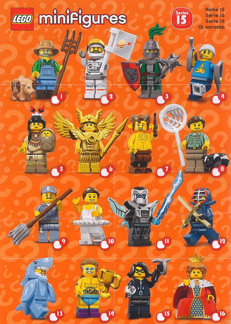 LEGO MINIFIGURES SERIE 15 SERIE COMPLETA 16