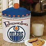 Edmonton Oilers Gameday Ceramic Cookie Jar (New) Limited Quantity Canada Preview