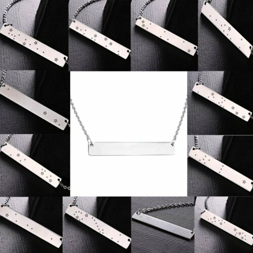 Chic en acier inoxydable Bar Star signe constellation collier pendentif nouvel an cadeau