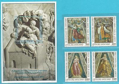 Begeistert Vatikan Aus 1995 ** Postfrisch Minr.1136-1139 Block 15 Casa Santa!