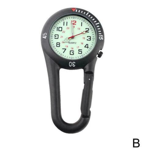 Sport-Karabinerhaken-Uhr-Doktoren Nurses Medical Watches Luminous Gürtel V7Z7