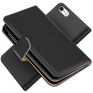 Handy-Huelle-fuer-iPhone-5-5S-SE-Schutz-Klapp-Etui-Booklet-Cover-PU-Leder-Tasche
