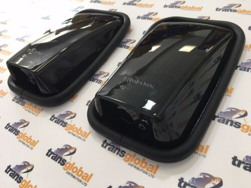 Gloss Black Wing Mirror Head /& Glass x2 for Land Rover Defender MTC5084