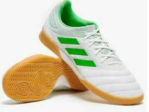 Adidas-Copa-19-3-size-9-5-In-Sala-white-green-Indoor-Soccer-Shoes-BC0559-Men-039-s