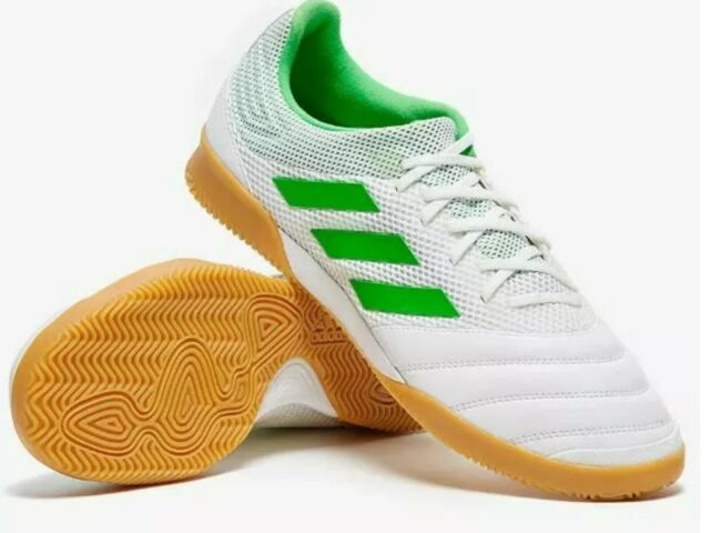 Adidas Copa 19.3 size 9.5 In Sala white green Indoor Soccer Shoes BC0559 Men's