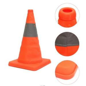 Collapsible Reflective Traffic Cones Road Folding Safety Signs Witches Hat G