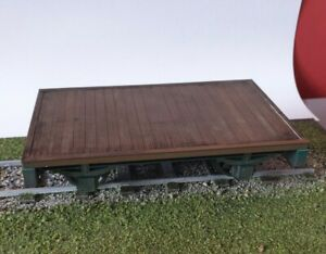 Garden-railway-Flat-Bed-Wagon-Built-painted-ready-to-run-16mm-scale-SM32