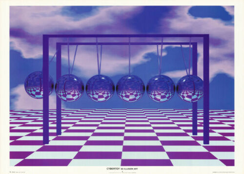 FREE SHIP CYBERTOY OPTICAL ILLUSION #VR0005  RC21 C 3-D ILLUSION POSTER